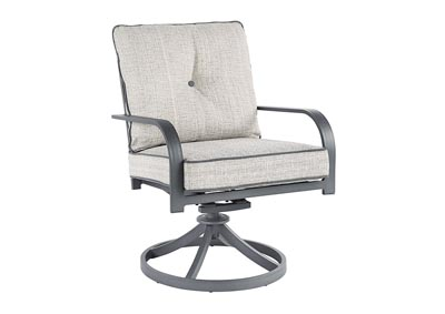 Donnalee Bay Gray Swivel Lounge Chair (Set of 2)