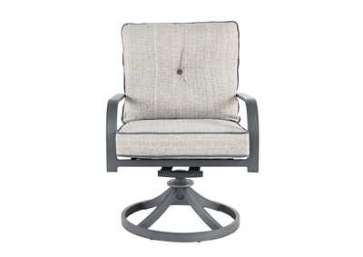 Image for Donnalee Bay Gray Swivel Lounge Chair (Set of 2)