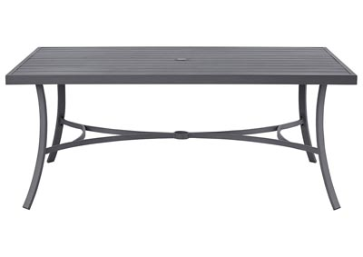 Donnalee Bay Dark Gray Dining Table w/Umbrella Option