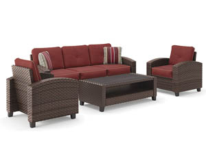 Meadowtown Brown Sofa/Chairs/Table Set (4/CN)
