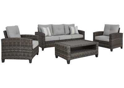 Image for Cloverbrooke Gray 4-Piece Outdoor Conversation Set