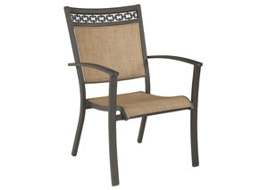 Carmadelia Tan/Brown Sling Chair (Set of 4)