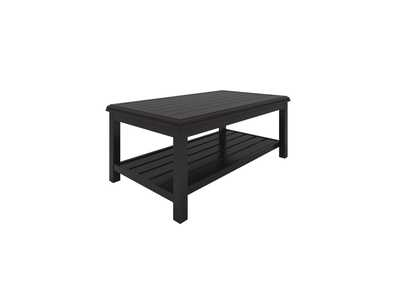 Image for Castle Island Dark Brown Rectangular Cocktail Table
