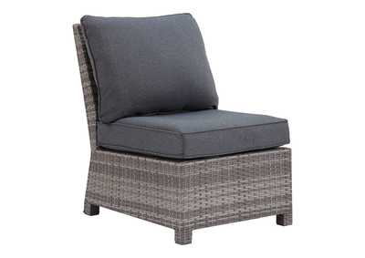 Salem Beach Gray Armless Chair with Cushion