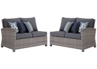 Salem Beach Gray Left-Arm Facing Loveseat/Right-Arm Facing Loveseat