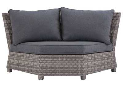 Salem Beach Gray Corner Chair with Cushion