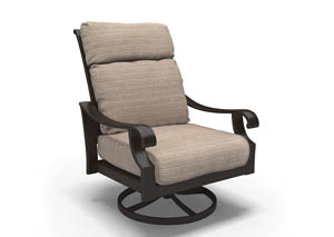 Chestnut Ridge Brown Swivel Lounge Chair w/Cushion