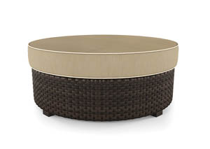 Spring Ridge Beige/Brown Ottoman w/Cushion