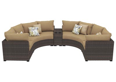 Spring Ridge Beige/Brown Sectional w/Console