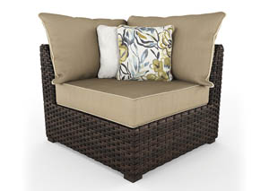 Spring Ridge Beige/Brown Corner with Cushion (2/CN)