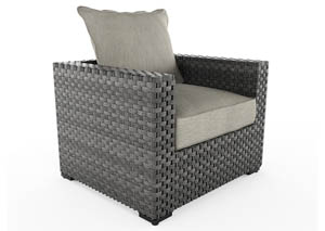 Spring Dew Gray Lounge Chair w/Cushion