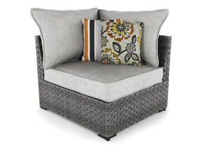 Spring Dew Gray Corner w/Cushion (2/CN)