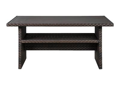Easy Isle Dark Brown/Beige Multi-Use Table