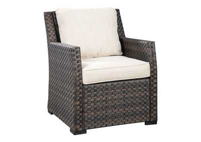 Image for Easy Isle Dark Brown/Beige Lounge Chair with Cushion