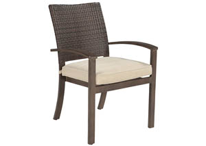 Moresdale Brown Chair w/Cushion (Set of 4)