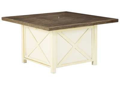 Preston Bay Antique White Fire Pit Table