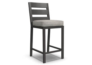 Perrymount Brown Bar Stool with Cushion (Set of 2)