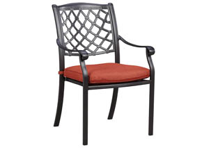 Tanglevale Burnt Orange Chair w/Cushion (Set of 4)