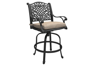 Rose View Brown Bar Stool with Cushion (2/CN)