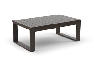 Cordova Reef Dark Brown Rectangular Cocktail Table
