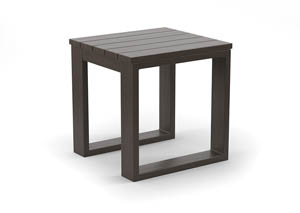 Cordova Reef Dark Brown Square End Table