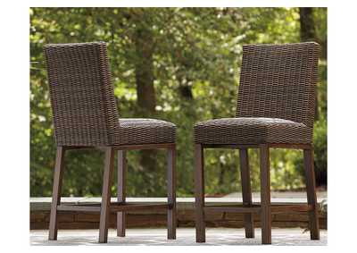 Image for Paradise Trail Brown Bar Stool (Set of 2)