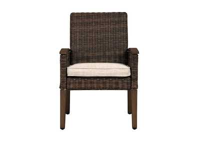 Paradise Trail Medium Brown Arm Chair with Cushion (Set of 2)