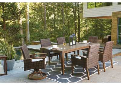 Paradise Trail Brown Dining Table w/Umbrella Option