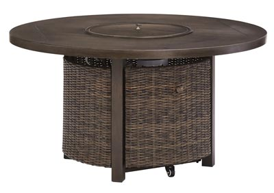 Paradise Trail Brown Round Fire Pit Table