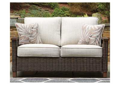 Paradise Trail Brown Loveseat w/Cushion