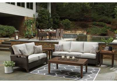 Paradise Trail Brown Sofa & Loveseat w/Coffee Table & End Table