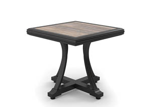 Marsh Creek Brown Square End Table