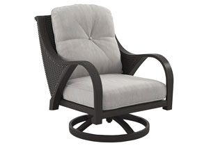 Image for Marsh Creek Brown Swivel Lounge w/Cushion (2/CN)