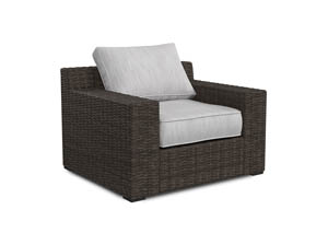 Alta Grande Beige/Brown Lounge Chair w/Cushion (1/CN)