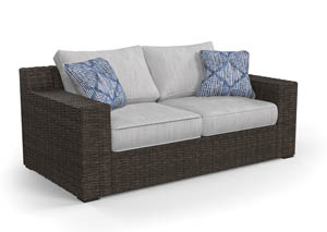 Image for Alta Grande Beige/Brown Loveseat w/Cushion