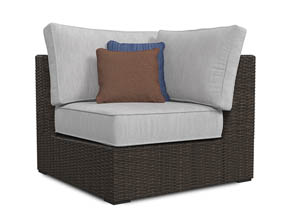 Alta Grande Beige/Brown Corner with Cushion (1/CN)