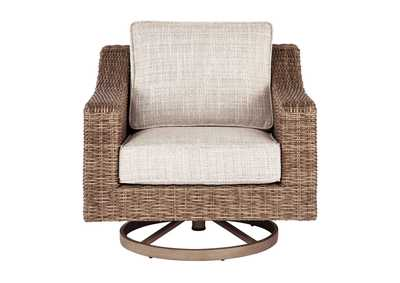 Beachcroft Beige Swivel Lounge Chair