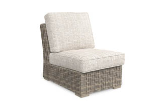 Beachcroft Beige Armless Chair w/Cushion (1/CN)