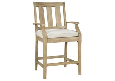 Clare View Beige Barstool w/Cushion (Set of 2)