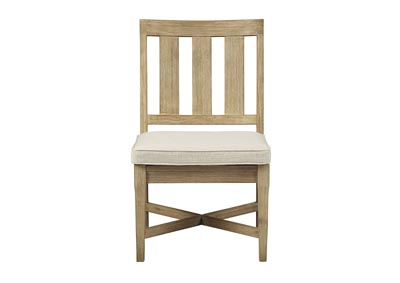 Clare View Beige Chair with Cushion (Set of 2)