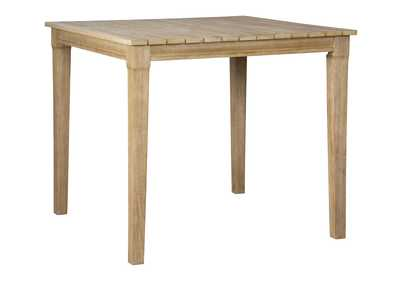 Clare View Beige Square Bar Table