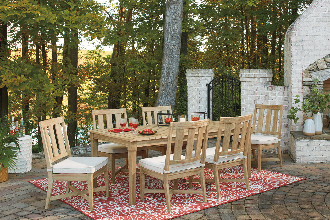 Image for Clare View Beige Dining Table w/6 Chairs