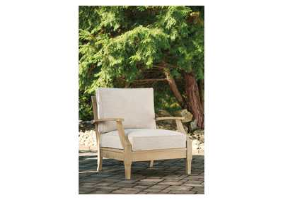 Clare View Beige Lounge Chair with Cushion