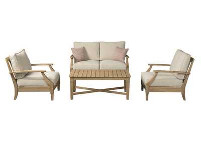 Clare View Beige 4 Piece Chat Set