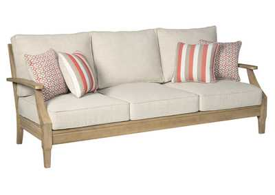 Clare View Beige Sofa w/Cushion