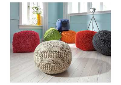 Benedict Natural Pouf,Signature Design By Ashley