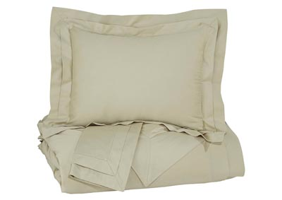 Chamness Sand Queen Duvet Cover Set