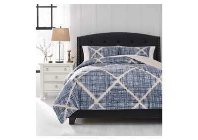 Image for Sladen Blue 3-Piece King Comforter Set