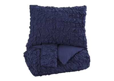Marksville Indigo Queen Duvet Cover Set