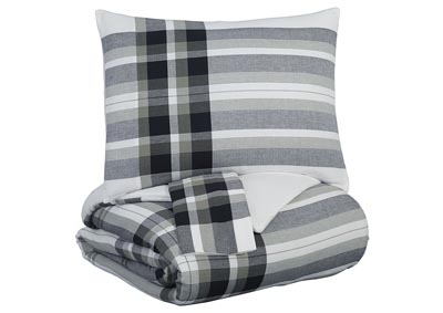 Image for Stayner Black/Gray Queen Coverlet Set